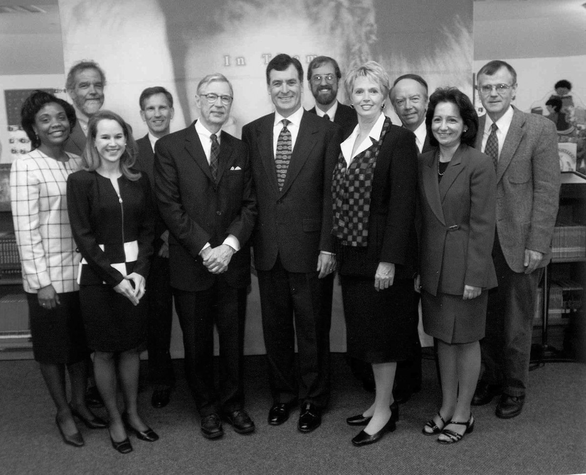 Mr Rogers and Governor with Early Childhood Task Force Research Team